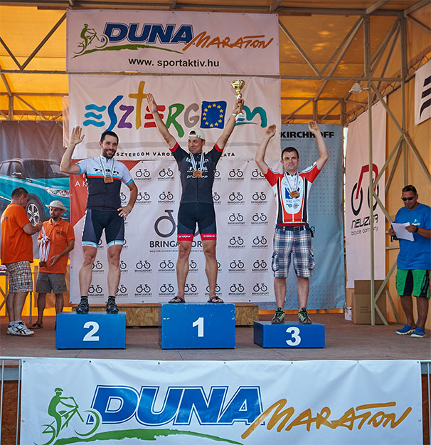 2015 Duna Maraton, Esztergom, Master2 dobogó