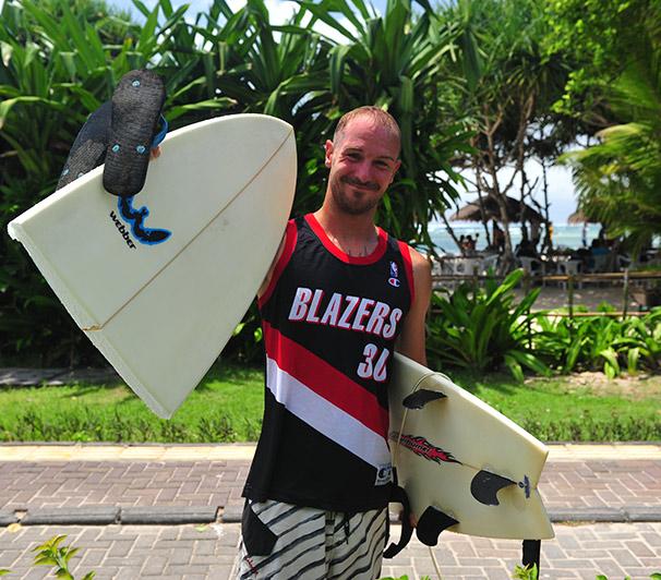 Nusa Dua, Bali, Indonézia - Webber surfboard Afterburner